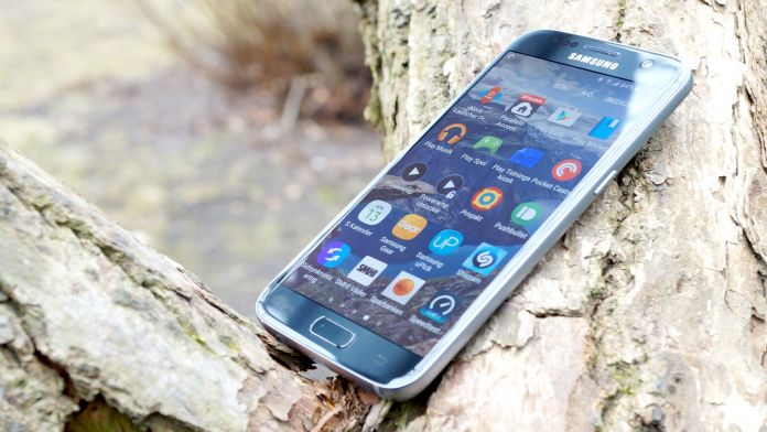 Samsung Galaxy S7 Recension skarm