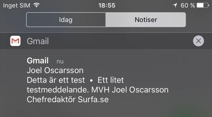 iOS Notiser