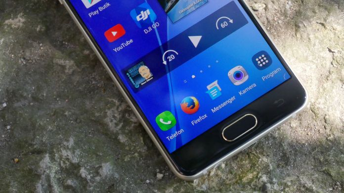 Samsung Galaxy A3 Recension knappar