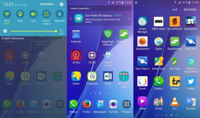 Samsung Galaxy A3 Recension mjukvara bild