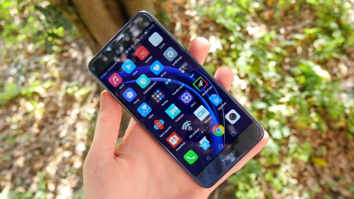 Huawei Honor 8 Recension skarm