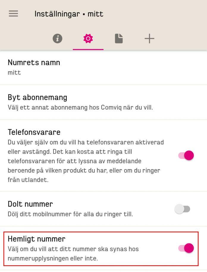 comviq-hemigt-nummer-app