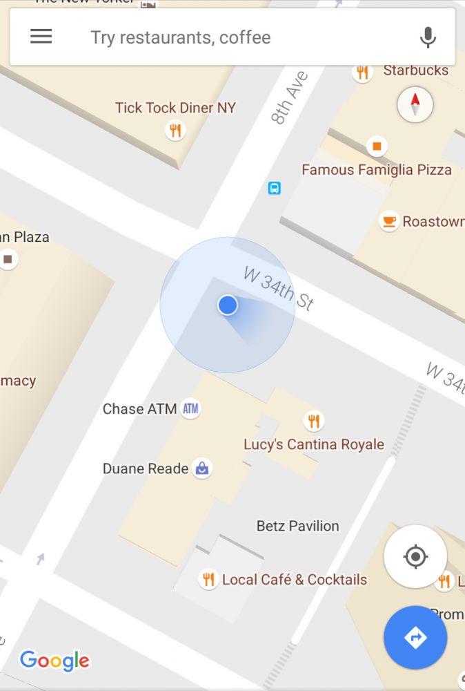 kompas-google-maps-android
