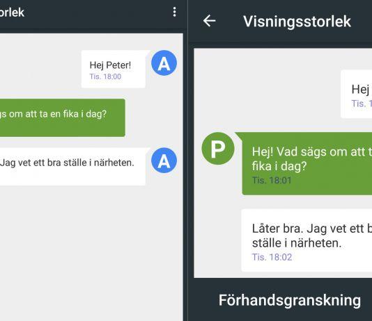 Visningsstorlek i Android 7