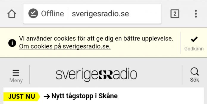 Surfa offline med Chrome för Android