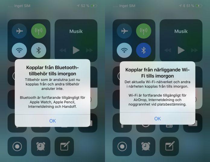 Kontrollcenter iOS 11.2