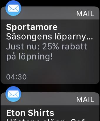 Notiser Watch OS test
