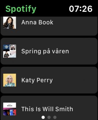 Spotify Watch OS