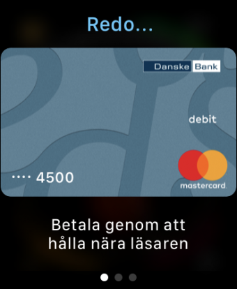 Watch OS Apple Pay