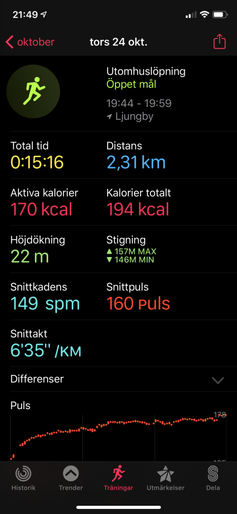 Apple watch 5 test jogging