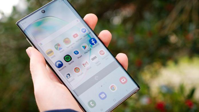 Recension Samsung Galaxy Note 10 skärm