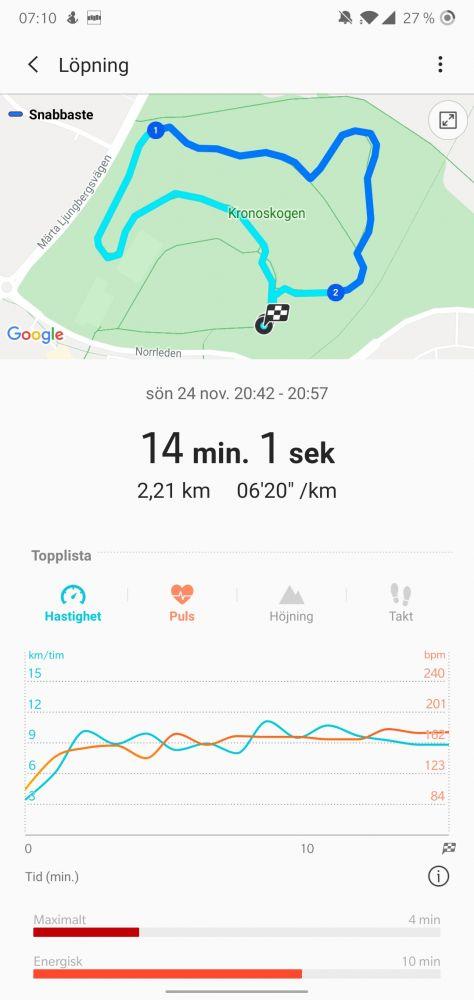 GPS test Galaxy Watch Active 2