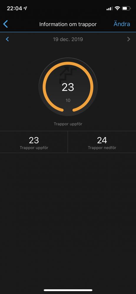 Garmin Vivoactive 4s test räkna trappor