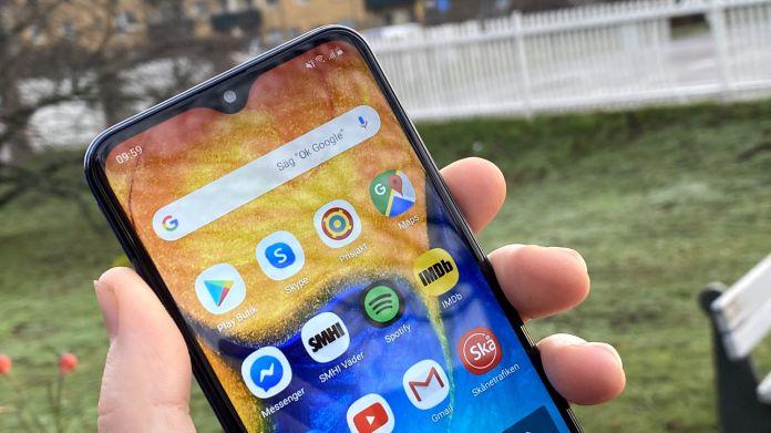 Test Samsung Galaxy A20e skärm