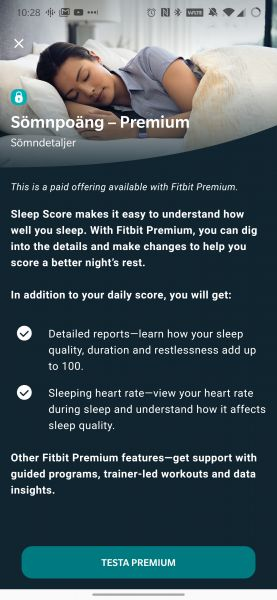 Fitbit Premium sleep versa 2 test