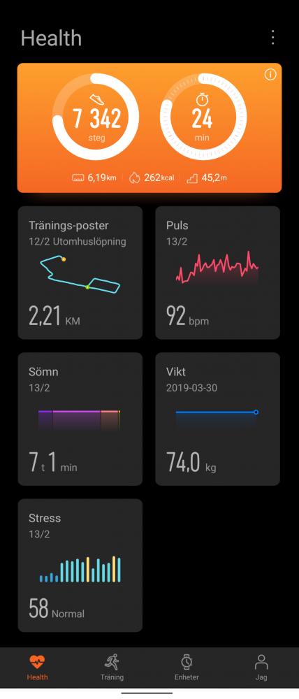 Huawei Health app test