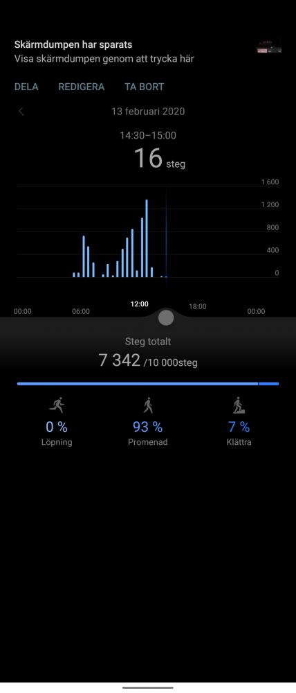stegräknare steg Huawei Watch GT 2