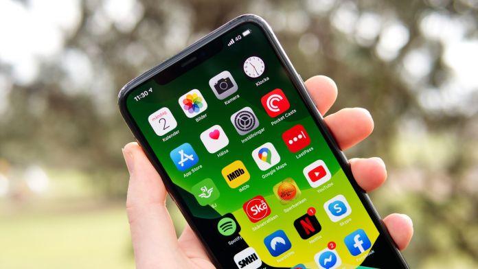 Skärm Test av iPhone 11 Pro Max