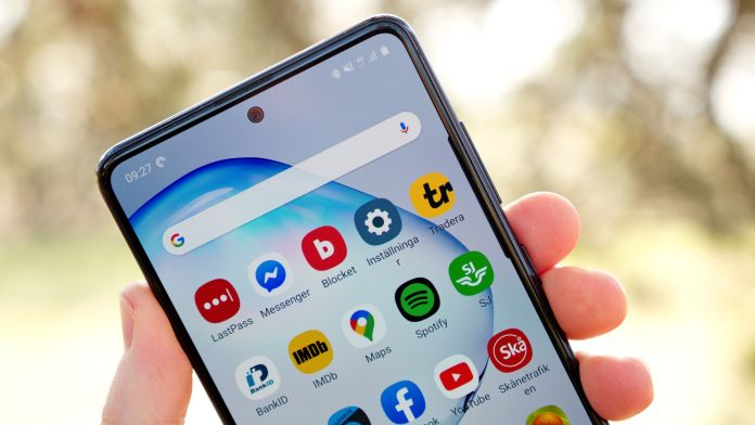 Test av Samsung Galaxy Note 10 Lite batteri