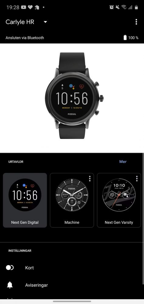 Test av Wear OS 1 Gb RAM