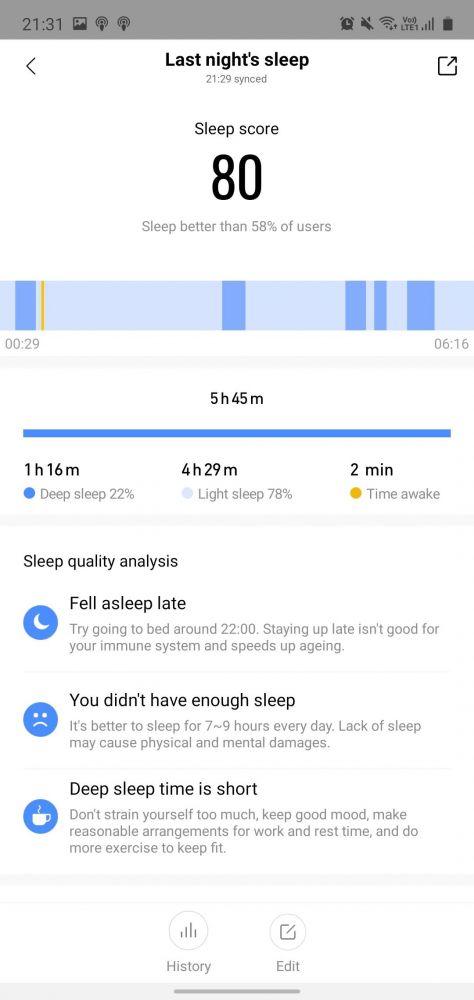 sömnmätning test