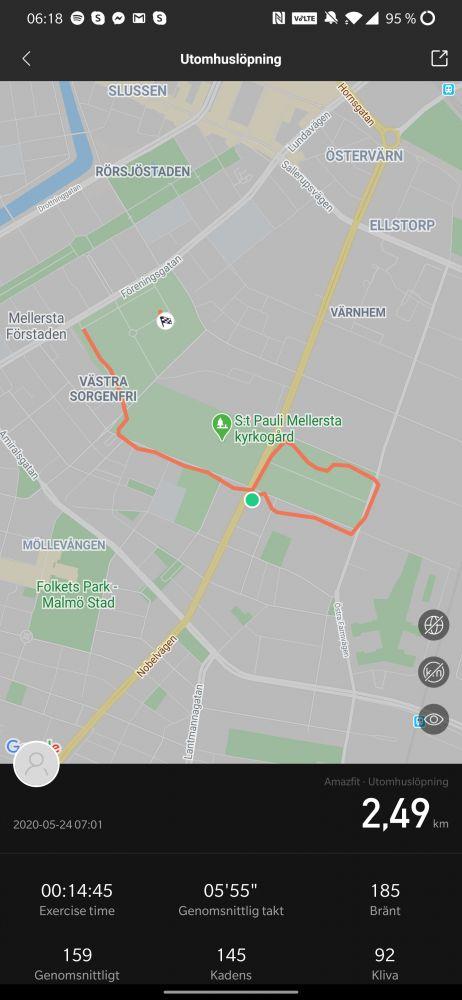 GPS-test Amazfit GTR