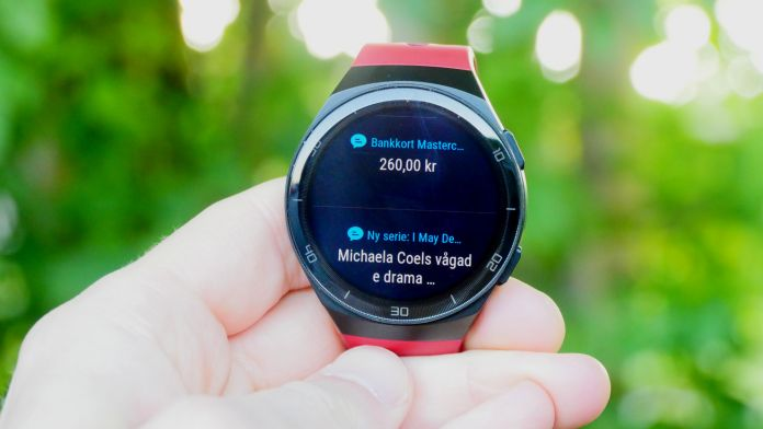 test Huawei Watch GT 2e notiser