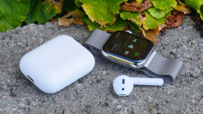 Apple Watch 5 musik hörlurar test