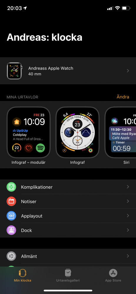 iPhone app Watch