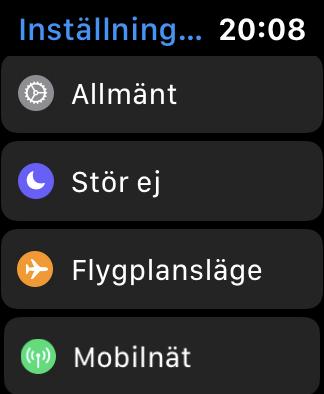 settings Watch OS 6