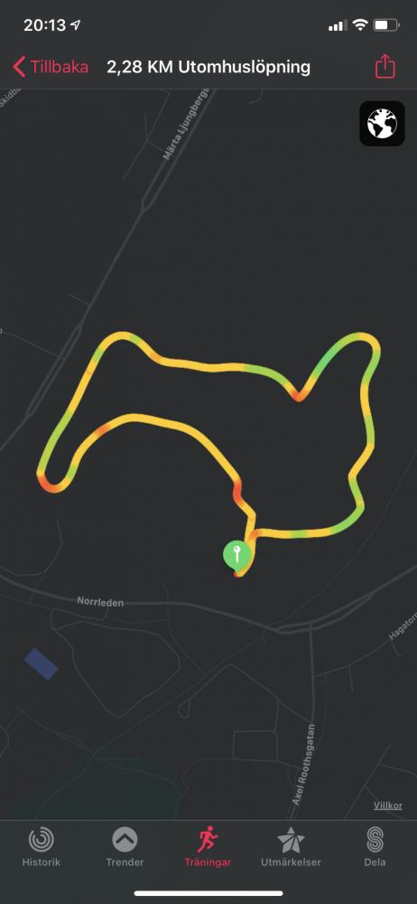 Recension jogging distans