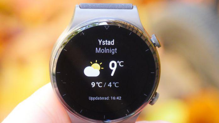 Huawei Watch GT 2 Pro Väder widget