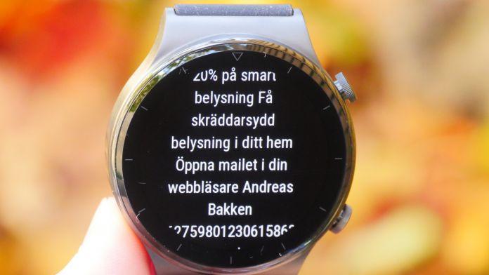 Huawei Watch GT 2 Pro Notiser