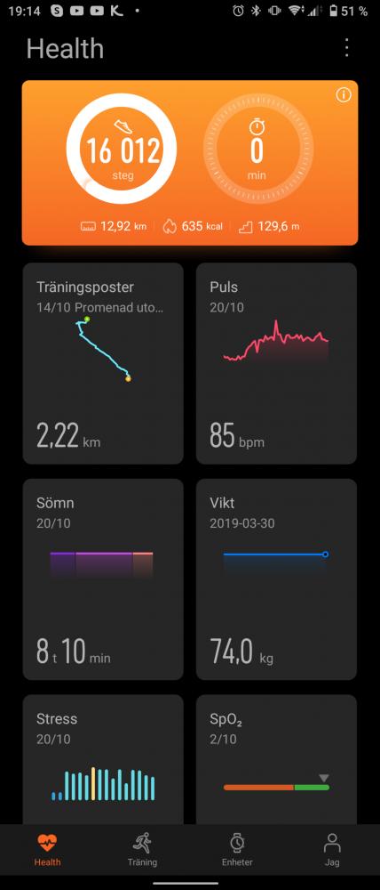 App Huawei Hälsa